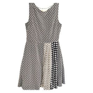 Jcrew Crewcuts sleeveless black white dress